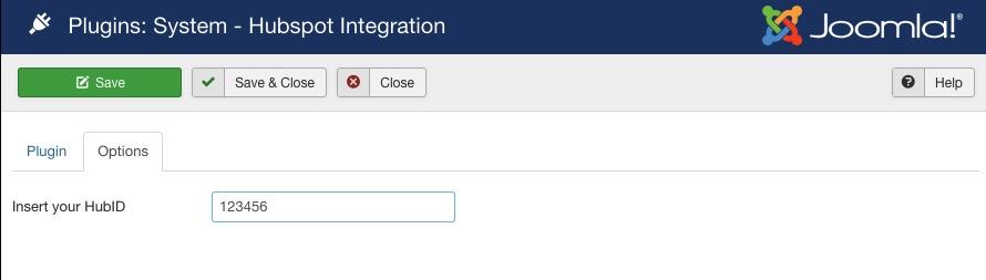 Insert HubSpot ID into HubSpot Joomla integrator