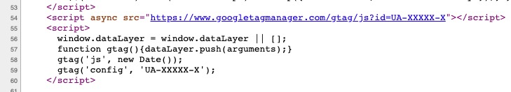 google tag manager source code